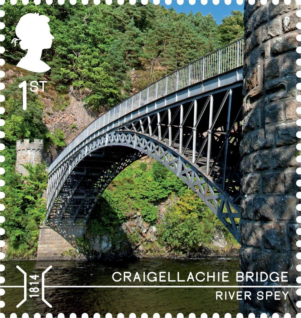 Graigellachie bridge 1st class royal mail stamps