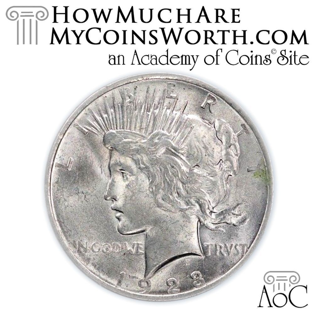 HowMuchAreMyCoinsWorth com Daily Coin: 1923 Peace Dollar