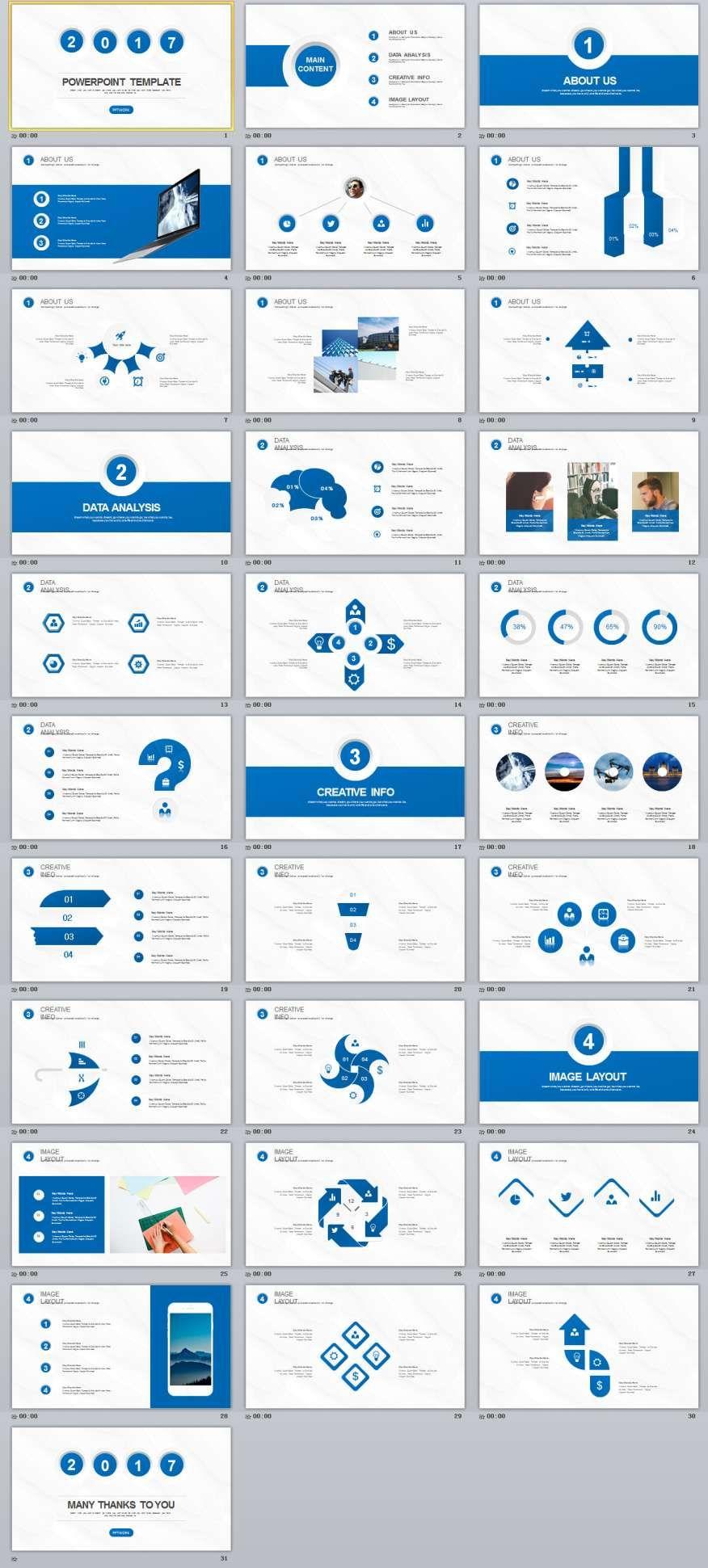31+ Blue business Plan PowerPoint templates Powerpoint