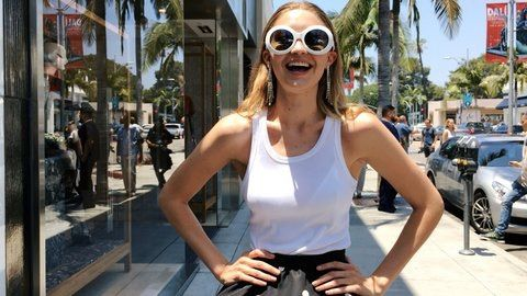 9e85834af6f Gigi Hadid in Oliver Goldsmith  Koko  sunglasses