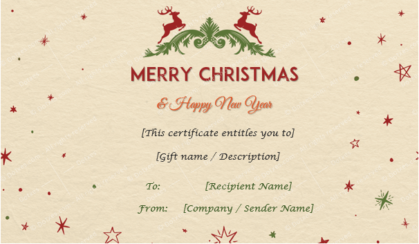 christmas gift certificate template for girlfriend and boyfriend