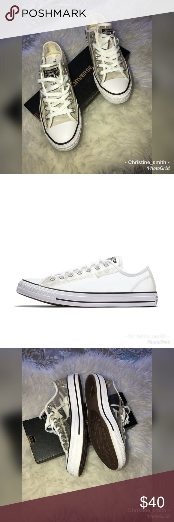 4ac26550241e Converse Chuck Taylor All Star Clear Low Top Rare clear white Converse Chuck  Taylor All Star Clear Low Top. See-through plastic upper is grommeted for  added ...