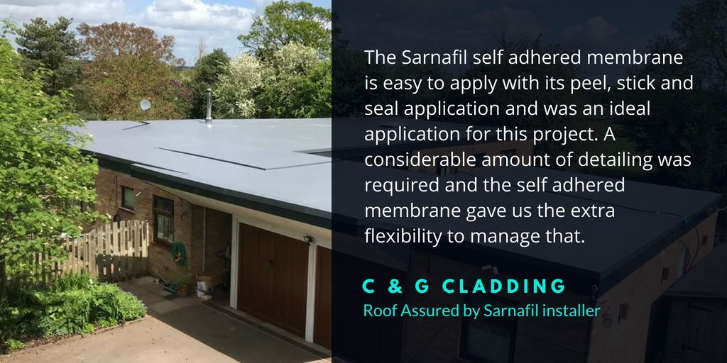 The Sarnafil Self Adhered Single Ply Membrane For Flat Roofs Flat Roof Membrane Cladding