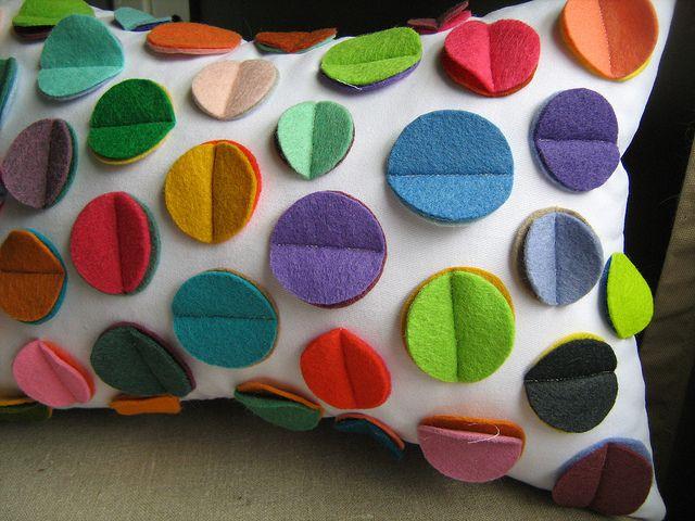 Rainbow disc cushion