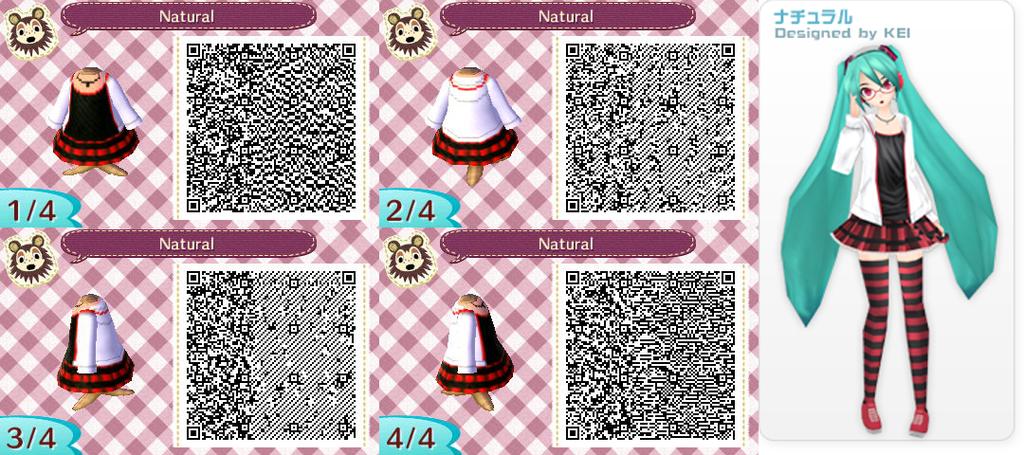 Miku Striped Qr Animal Crossing Qr Pinterest Qr