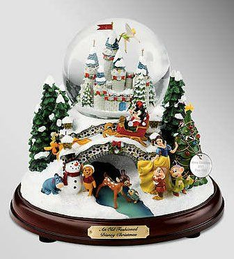 Disney Christmas Snow Globes.Disney Collectibles Illuminated Snow Globe 40 00 Snow