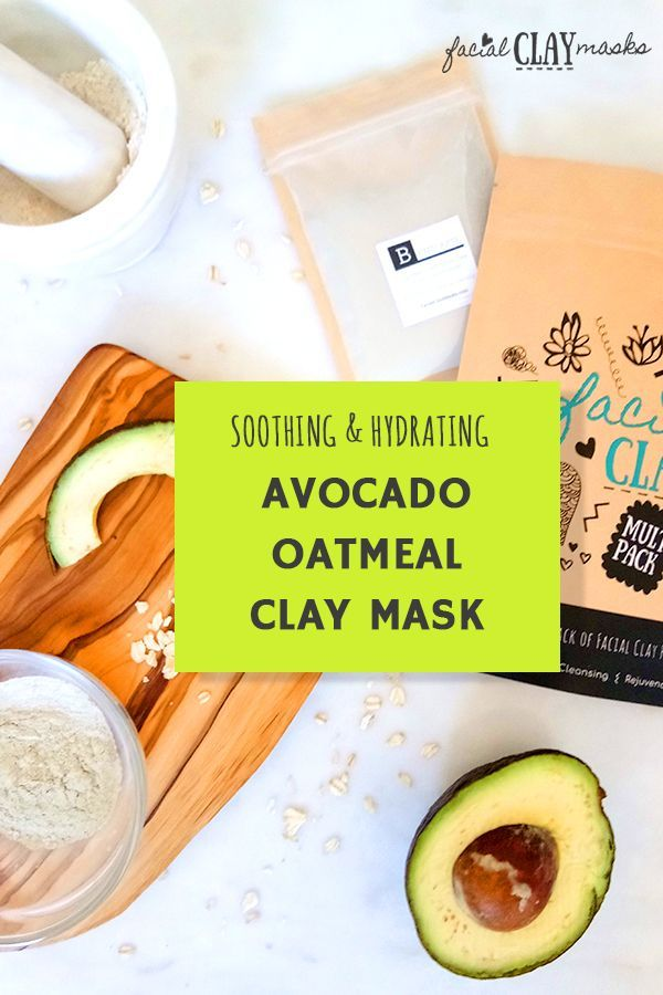 Soothing Avocado Mask Recipe w/ Oatmeal + Clay for Dry Skin My skin felt SO moisturized after this