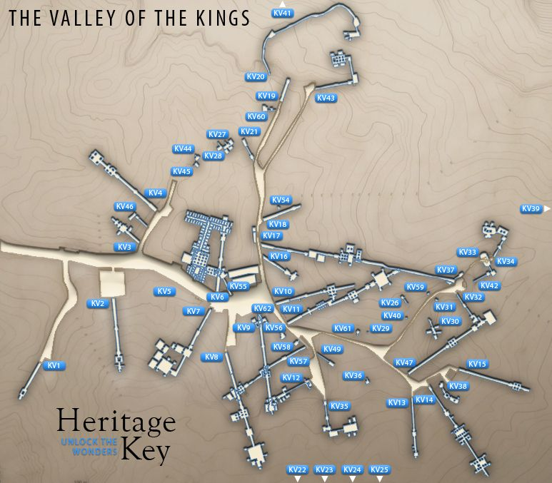 Valley Of The Kings Map Httpheritagekeycomsitevalleykings - Map of egypt showing valley of the kings