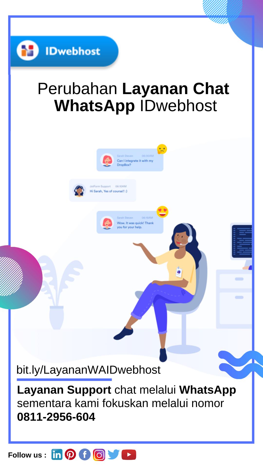 Perubahan Layanan Chat Whatsapp Idwebhost Pelayan