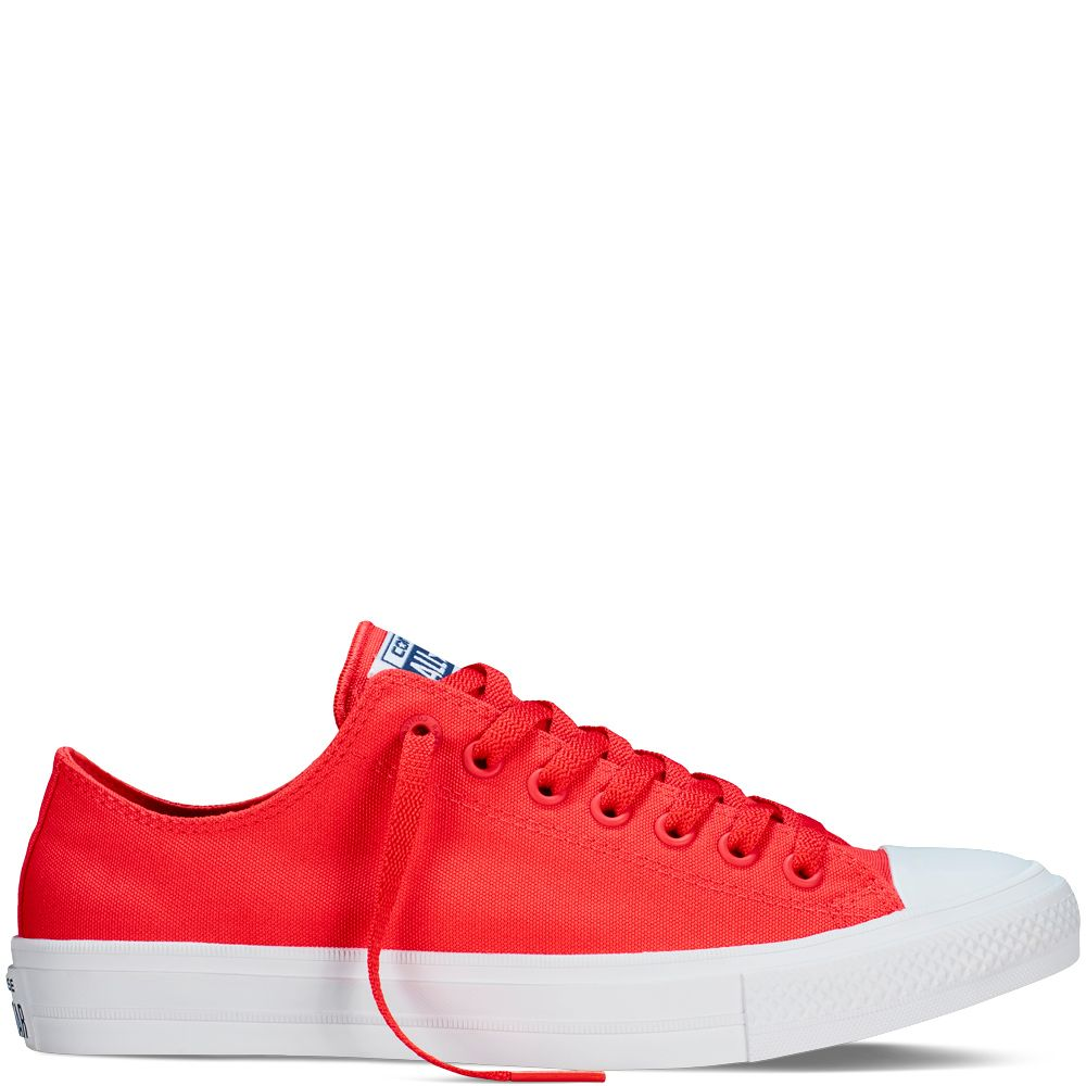 7dcc272e0a1f Chuck Taylor All Star II Neon Red Navy White red navy white ...