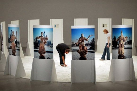 Modern Exhibition Stand Mockup : Moscow museum of modern art presents a solo exhibition