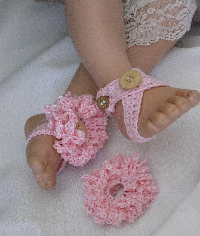 Bahama Baby Barefoot Sandal. $12.00, via Etsy. | Crochet.Barefeet ...