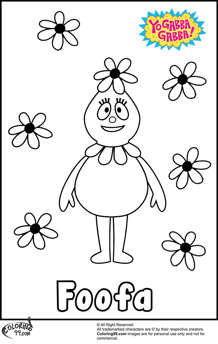 Yo Gabba Gabba Foofa Coloring Pages Coloring99 Com Coloring Pages Printable Coloring Pages Color