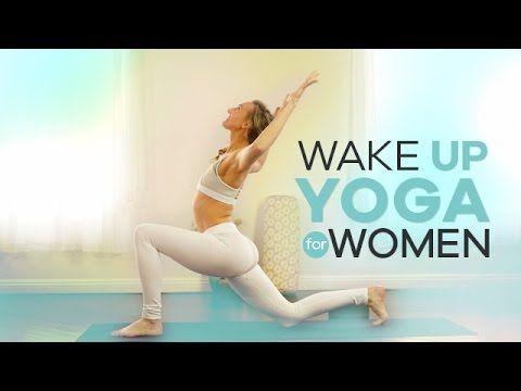Beginner Morning Yoga for Women | 10-Min | Energizing Wake Up Vinyasa Flow - YouTube