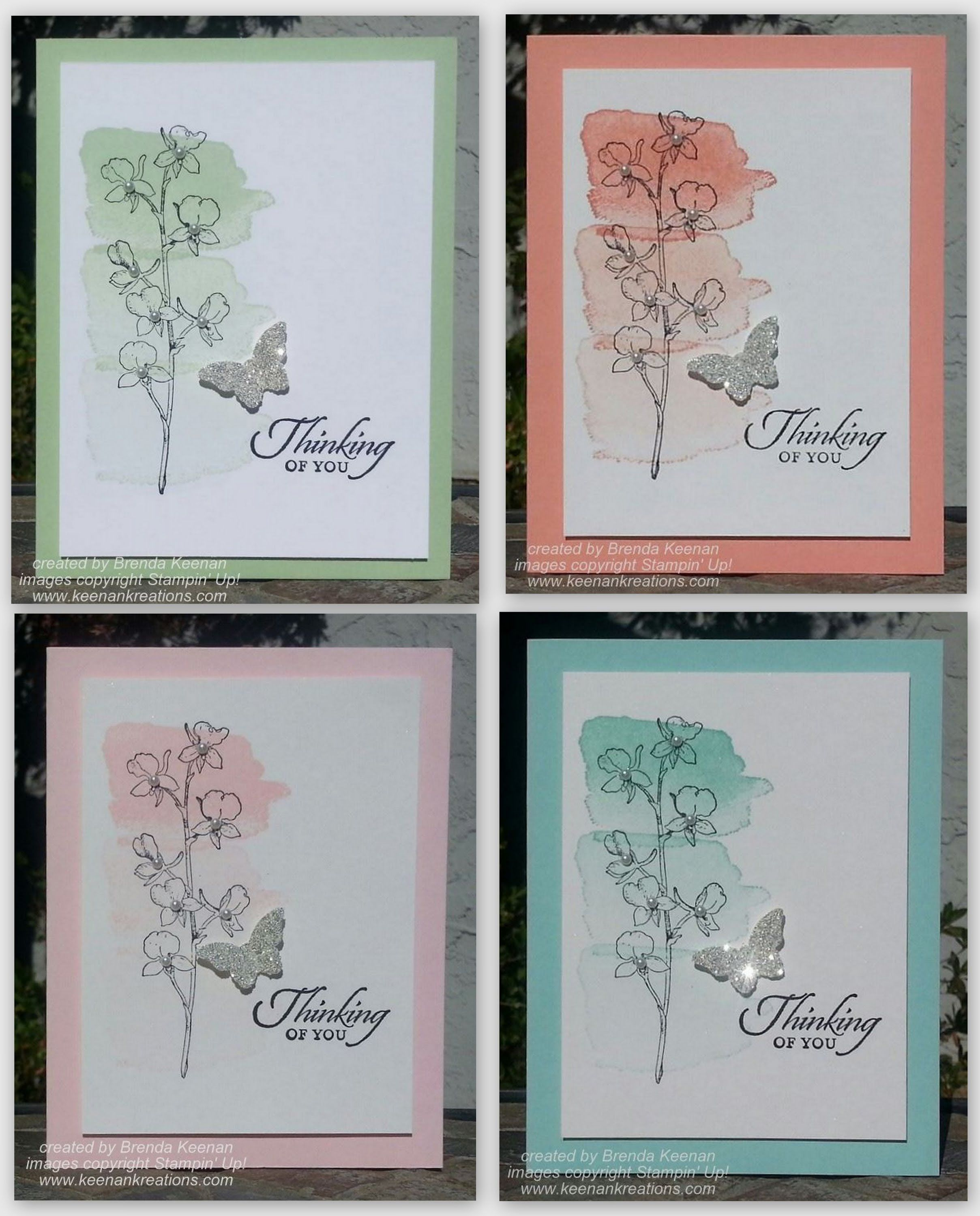 Easy Watercolor Card Using Happy Watercolor Colors Are Pistachio