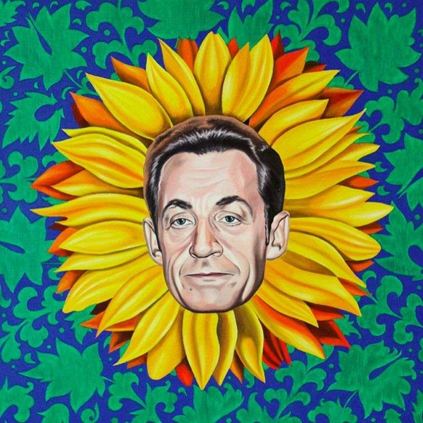 Famous people pop art portrait iconography by russian