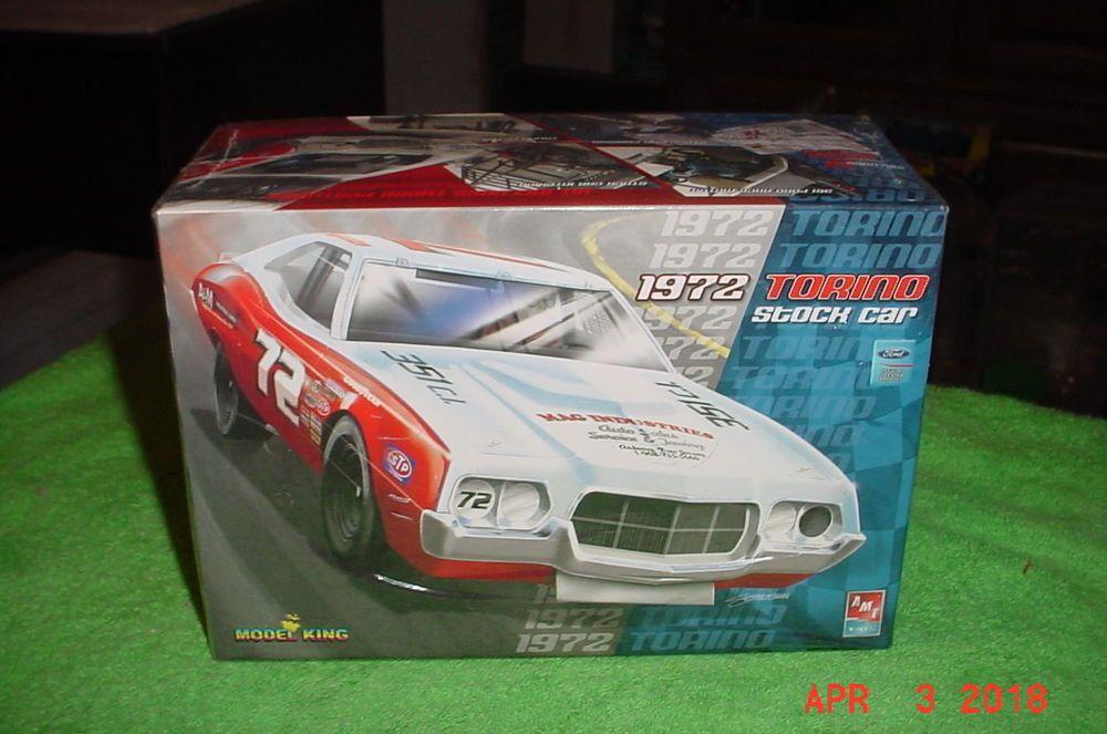 Amt 1972 Ford Gran Torino Stock Car 1 25 Kit 21803p Model King Amt Plastic Model Kits Cars Stock Car Plastic Model Kits