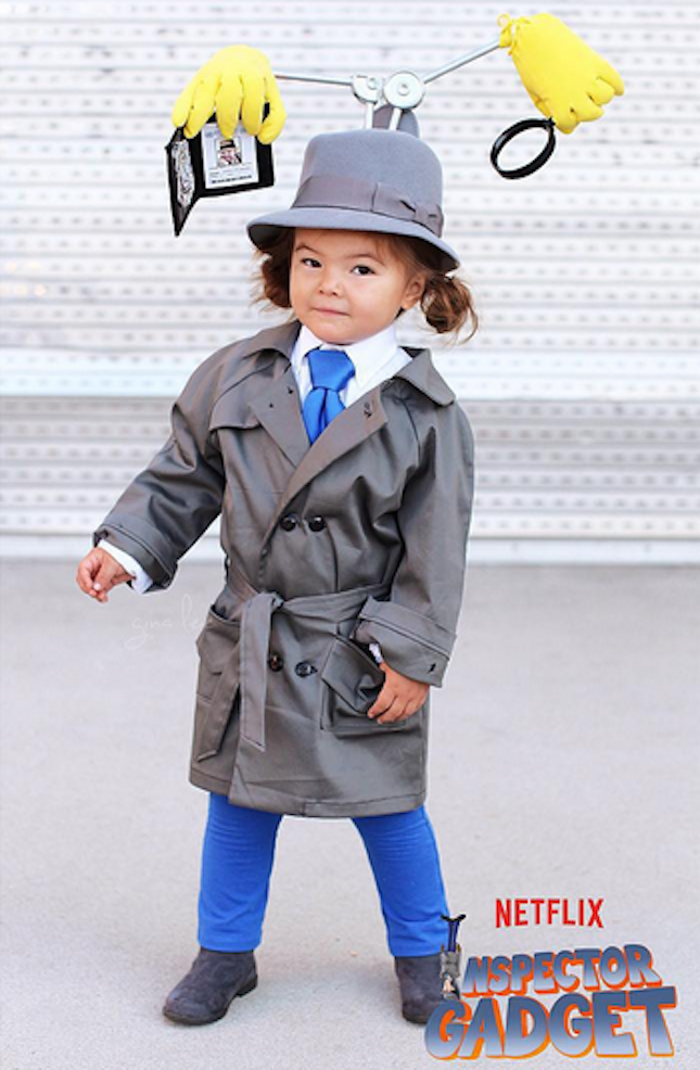 This Inspector Gadget costume is adorable