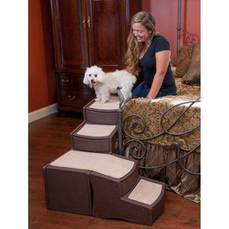 Pet Gear Easy Steps Bed Pet Stair Walmart Com Pet Stairs Dog Stairs Bed Stairs
