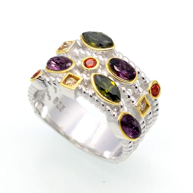 Bel Design Austriaco di Cristallo Silver Ring Monili di Modo Classico Regalo Del Partito Per La Donna di Alta Qualità