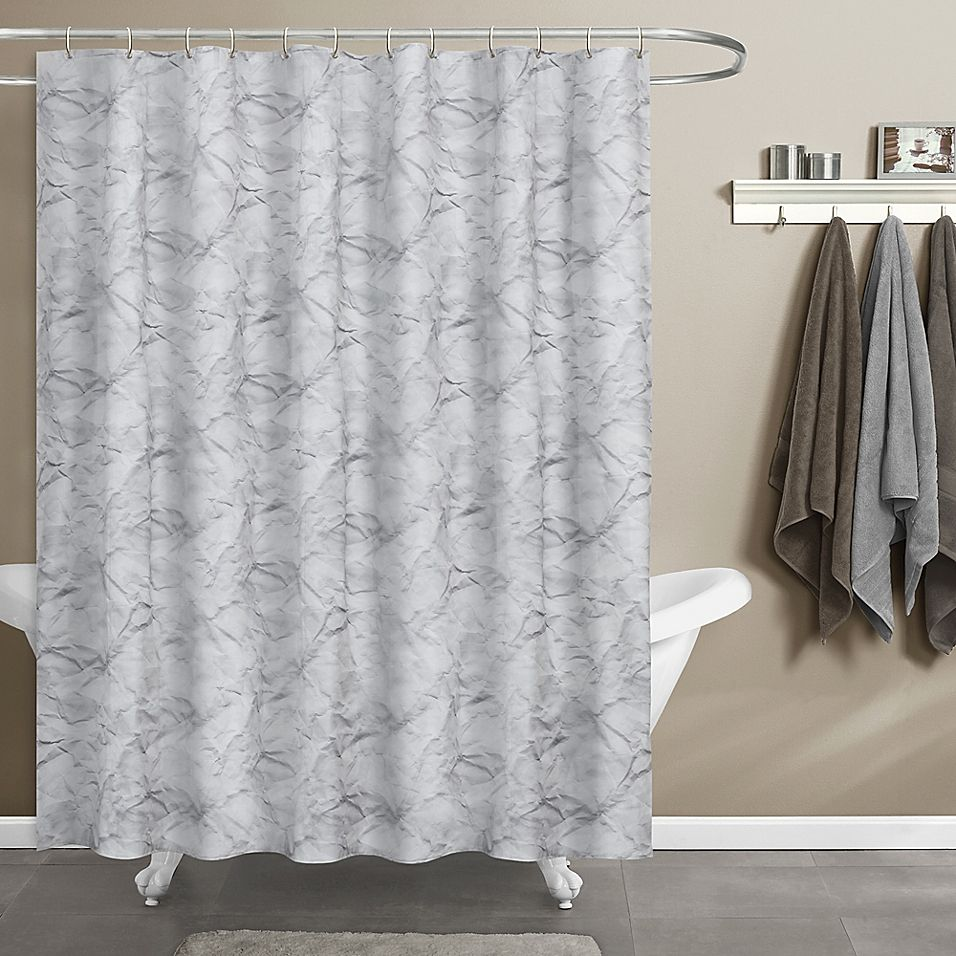 Maytex Papier Shower Curtain In Blue White Products In 2019