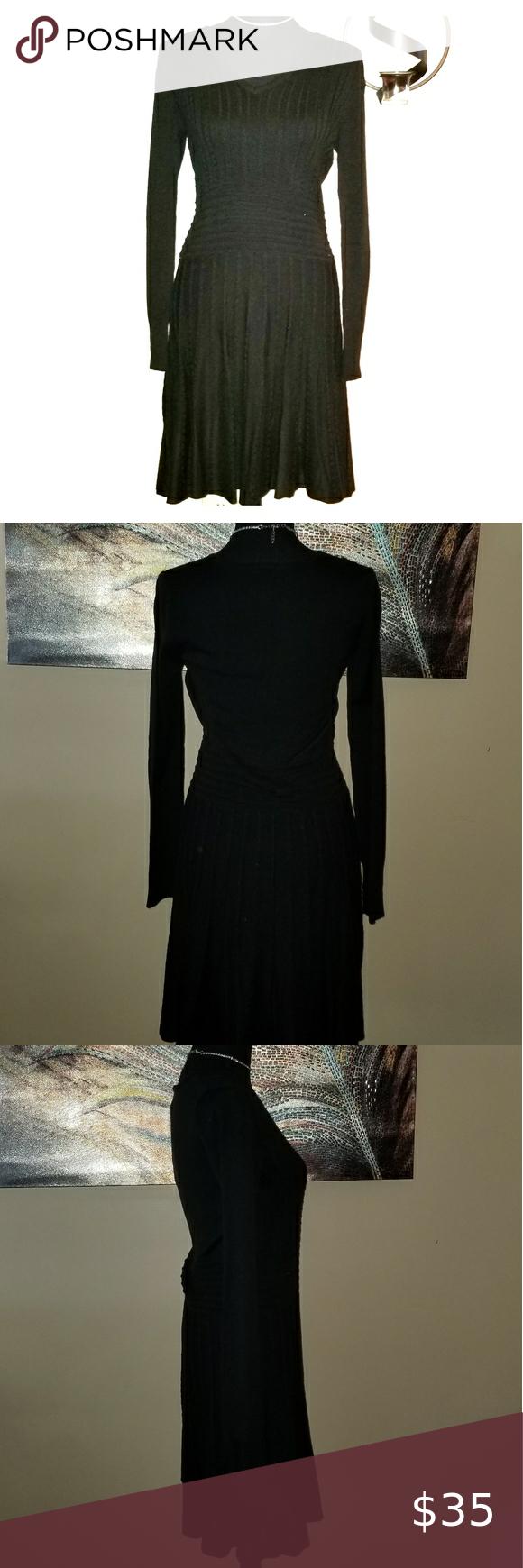 Vince Camuto Black Swaeter Dress Dresses Colorful Dresses Sweater Dress [ 1740 x 580 Pixel ]