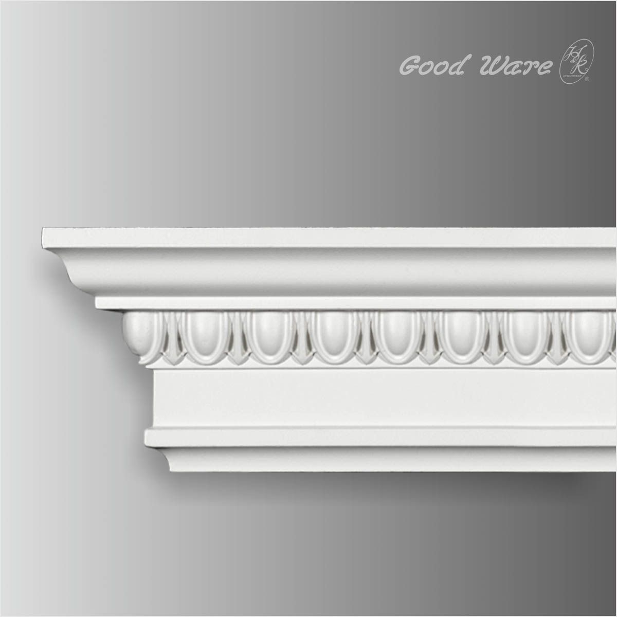 Polyurethane Egg And Dart Crown Molding Is Petite In Its Measurements But It Still Has A Powerful Design That E Crown Molding Cornice Design Moldings And Trim