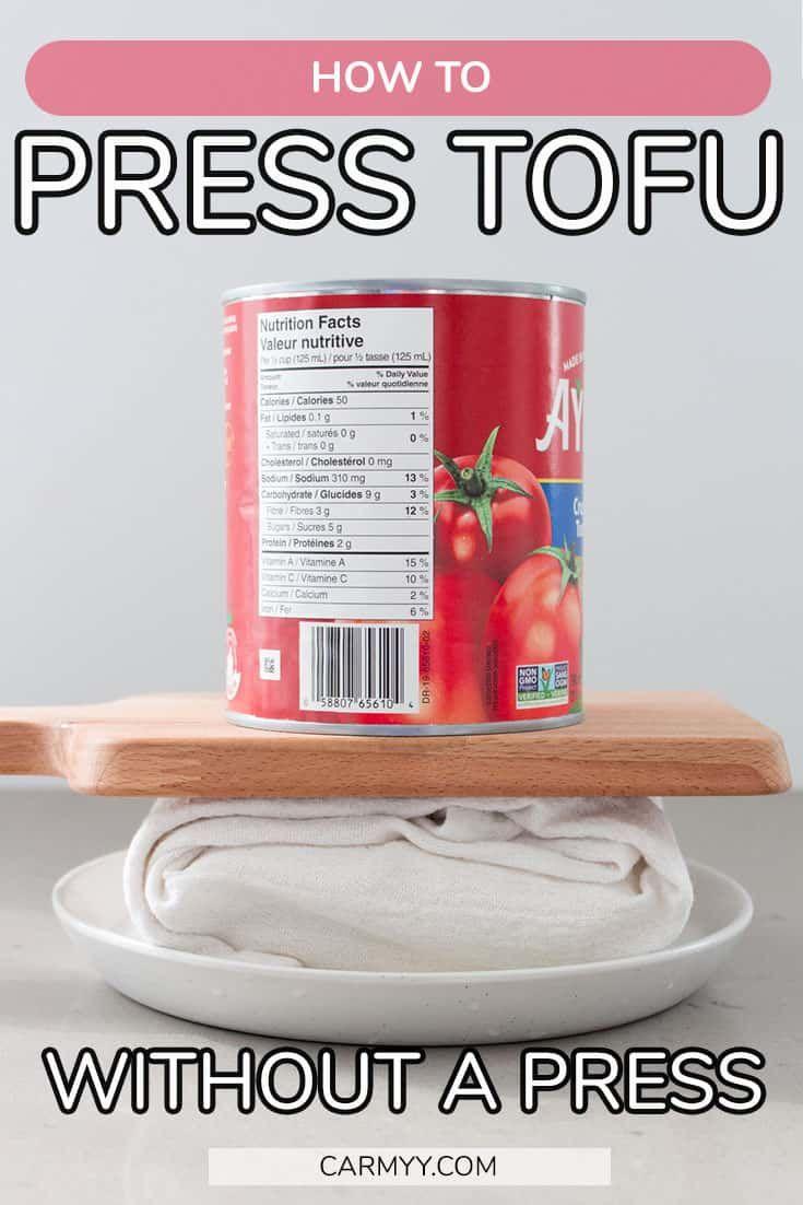 How to press tofu without a tofu press for crispy tofu