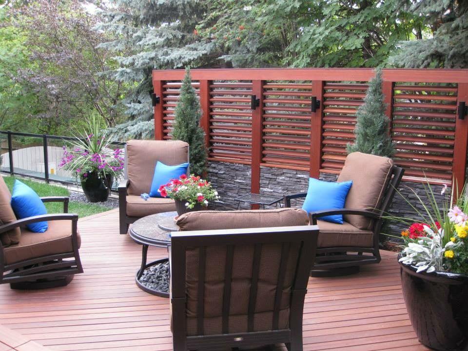 Beautiful Hardwood deck in Calgary made of Red Balau Batu