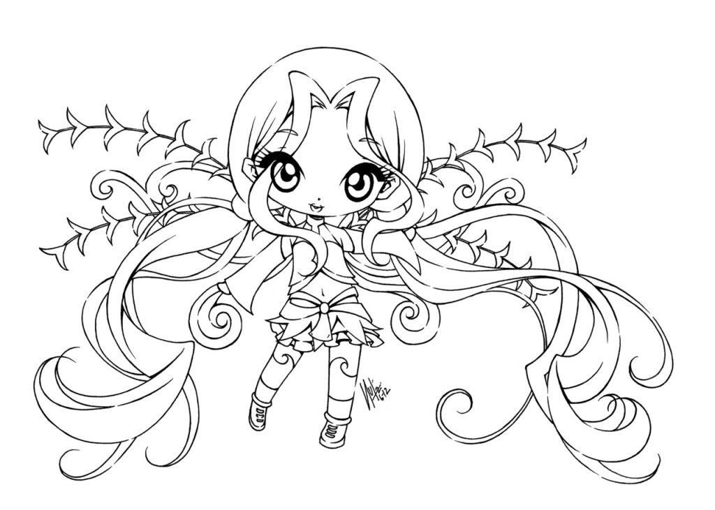 anime fairy coloring pages