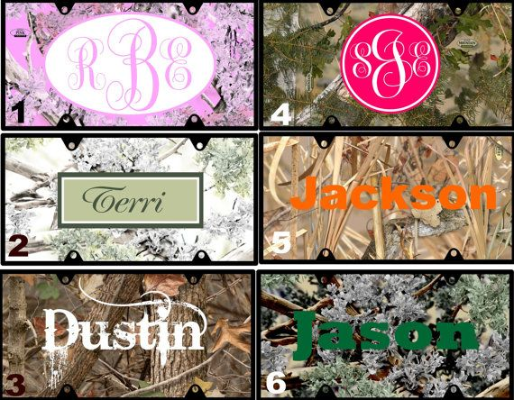 Personalized License Plate Camo Camoflauge Pink By Ladylinenco 19 99 Craft Ideas Camo