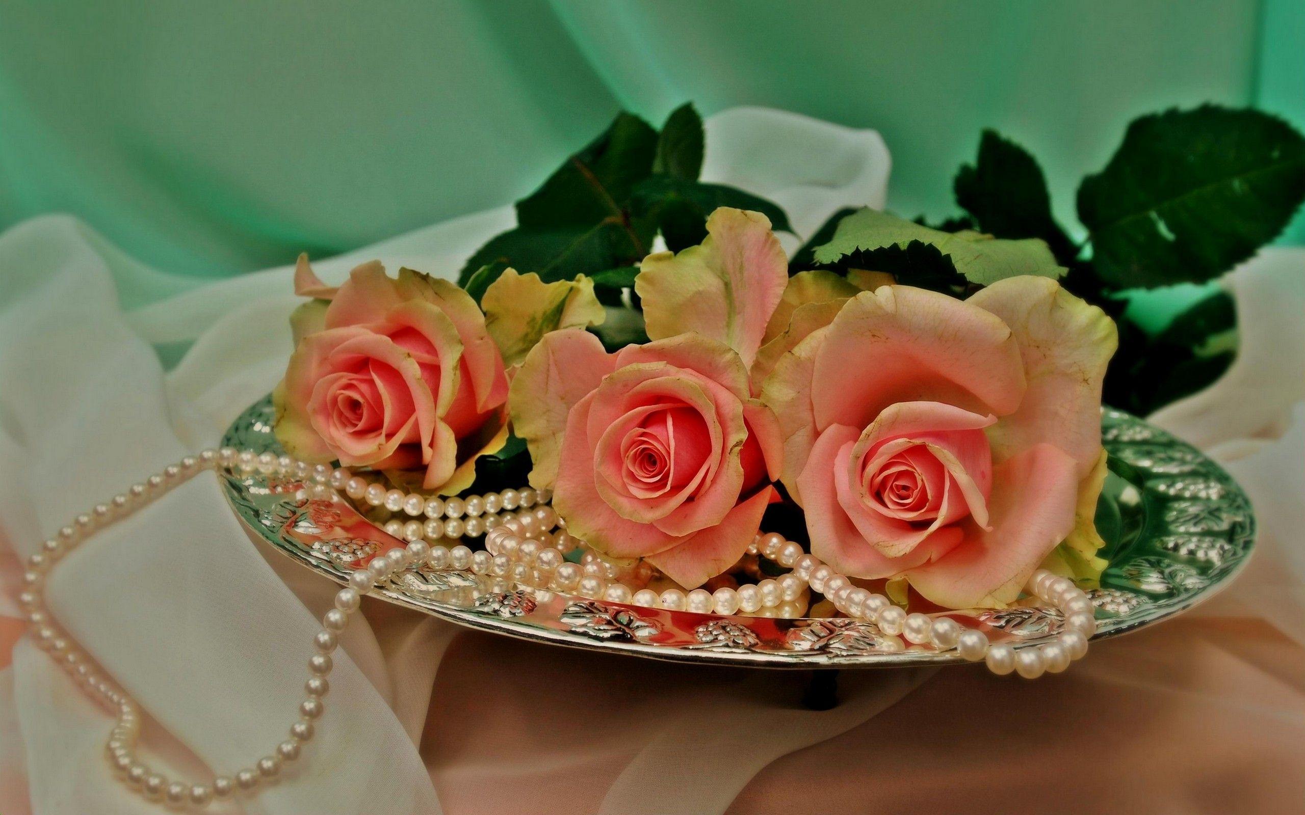 открытки жемчуг и цветы