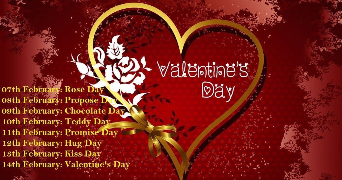 Valentine Week List Info Days Name Full List Dates Schedule Rose Day Propose Day Valentines Wallpaper Happy Valentines Day Images Valentine Day Wallpaper Hd