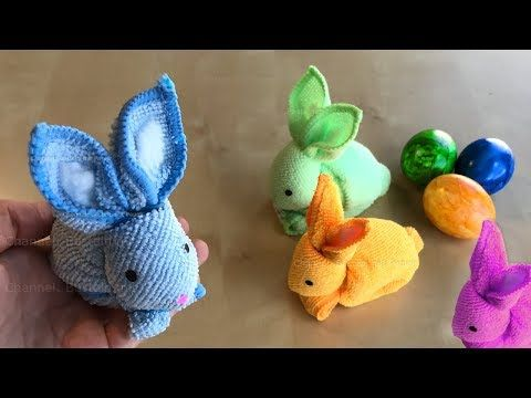 How to make a cute Bunny with a towel and paper � DIY Easter decorations