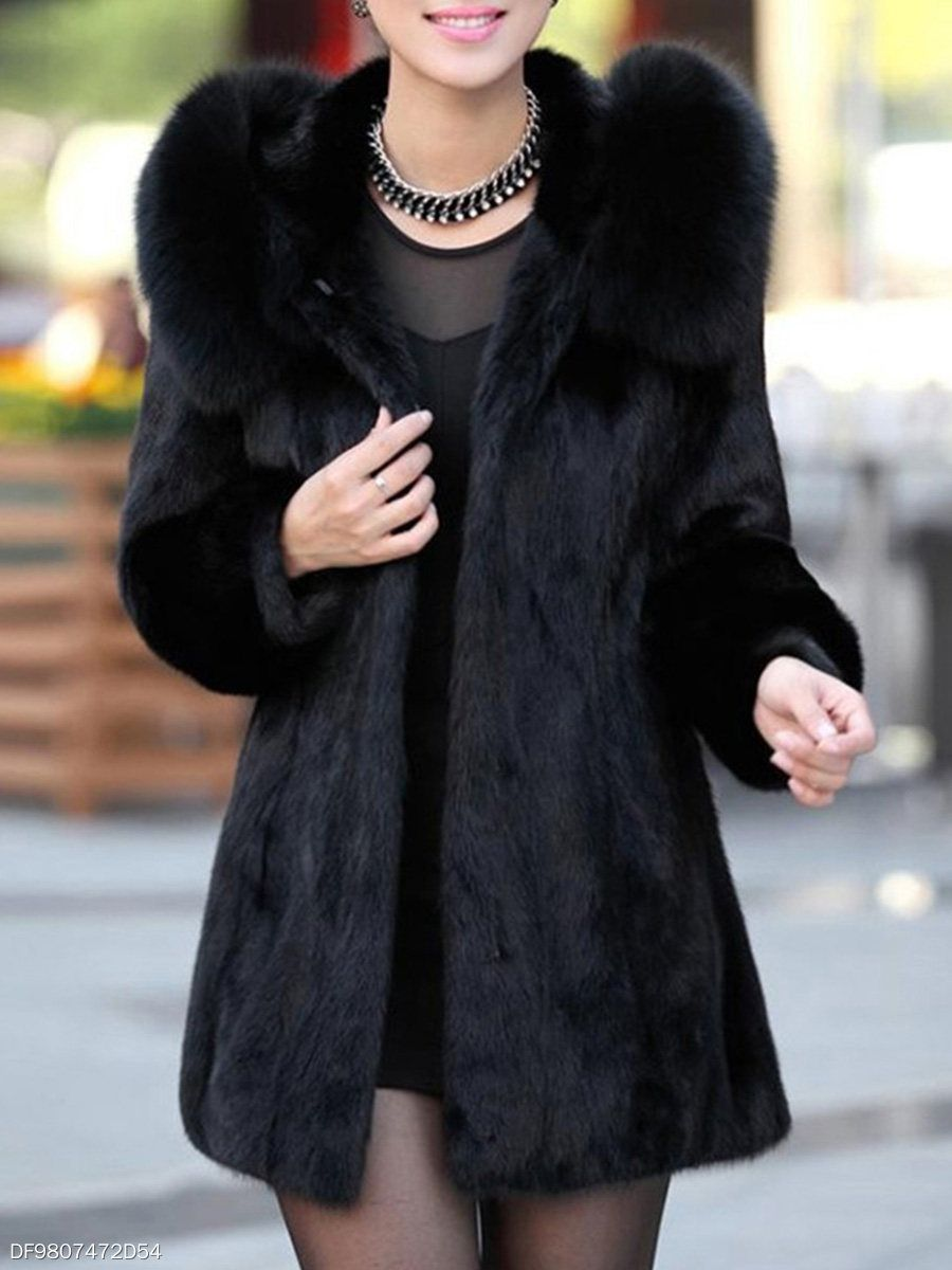 Luxury Black Hooded Faux Fur Coat Berrylook Com Faux Fur Hooded Coat Fur Coat Faux Fur Coat [ 1200 x 900 Pixel ]
