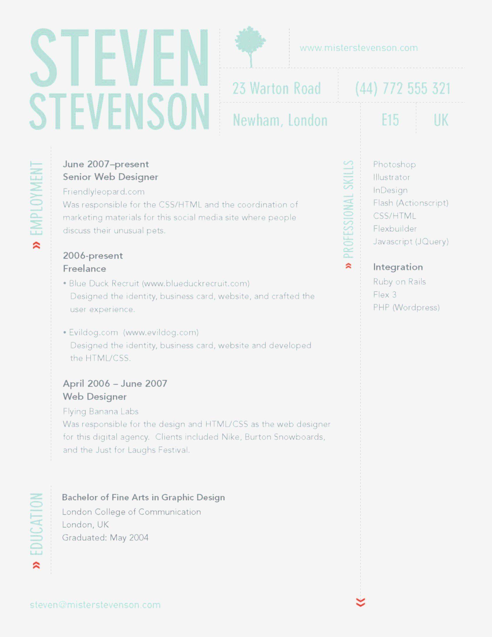 Graphic Design Skills Resume Elegant Collage Design Sample