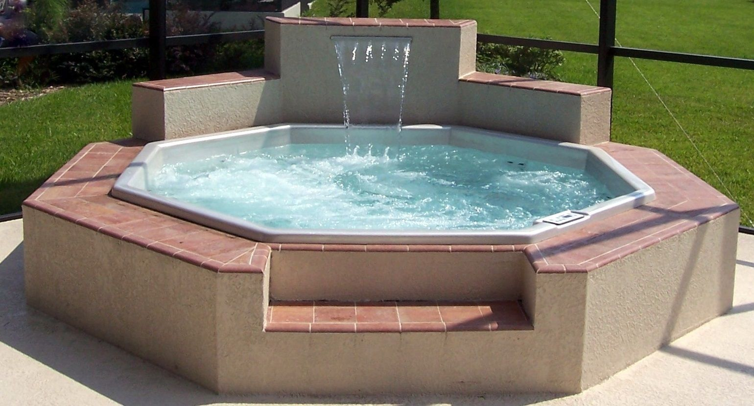 Custom Spa Hot Tub Installation In Ground Spa Inground Hot Tub Hot Tub