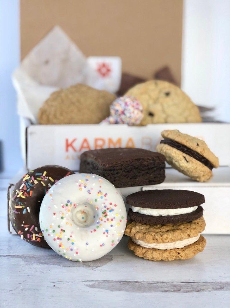 Vegan & Gluten Free Sampler Box by Karma Baker Etsy in