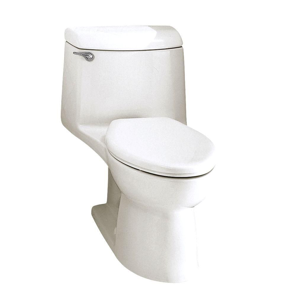 American Standard Champion 4 1 Piece 1 6 Gpf Single Flush Elongated Toilet In White No Seat Toilet American Standard One Piece Toilets