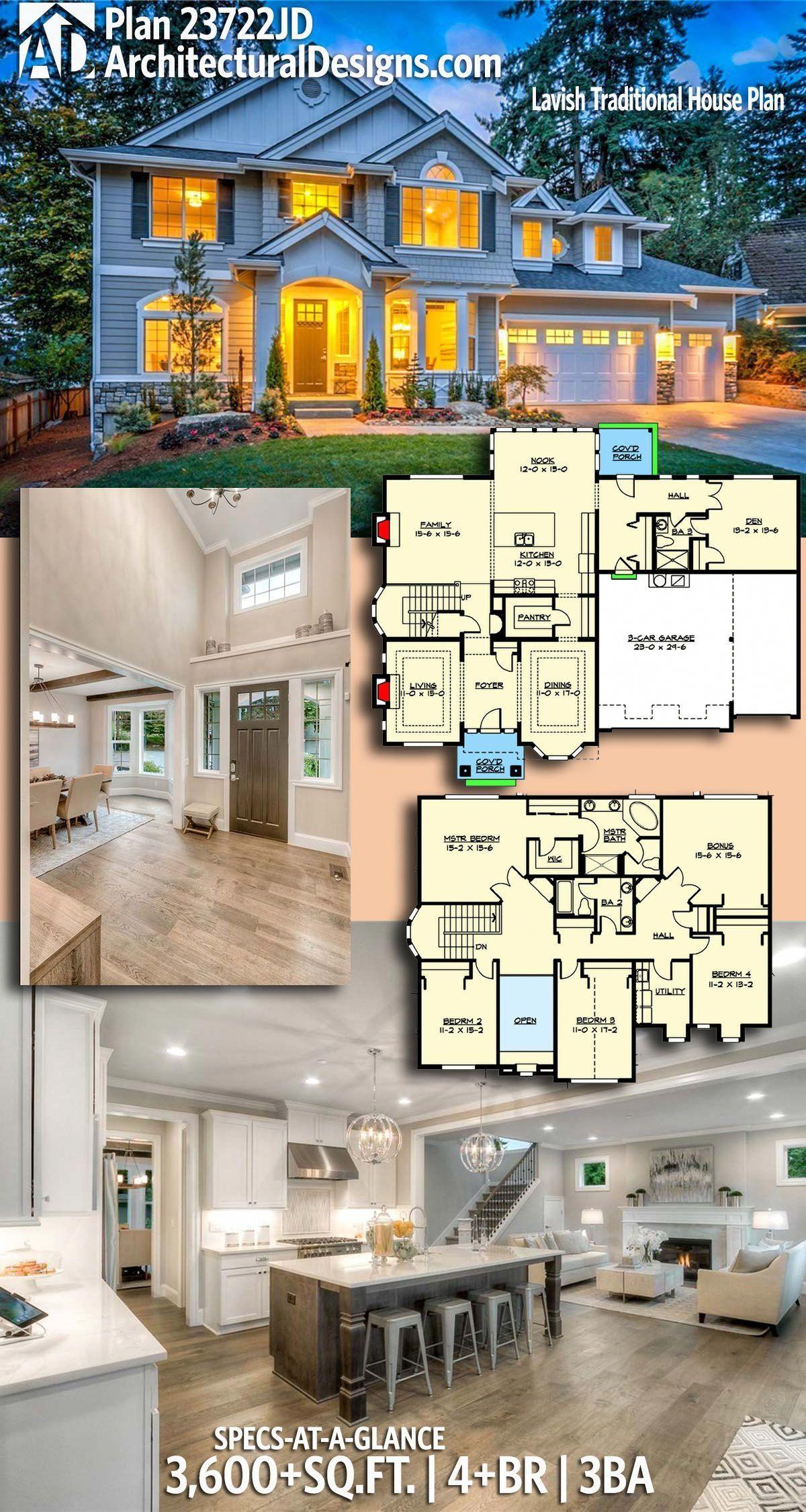 Photo of Plan 23722JD: Lavish Traditional House Plan