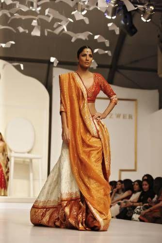 Nida Azwer tradtional yet modern Indian wedding lehenga