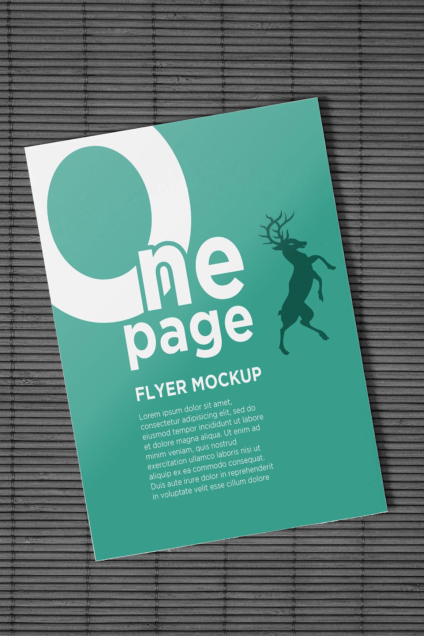 one page flyer mockups on behance mockups templates pinterest
