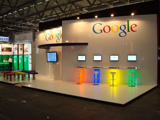 Pro Expo Communication Stands Amp Events : Colorful google exhibition search booths