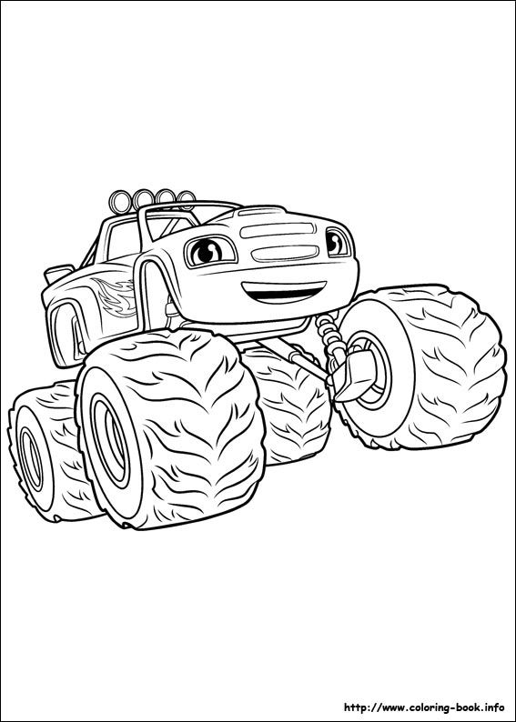 Blaze And The Monster Machines Coloring Picture Coloring Pages Superhero Coloring Coloring Pictures