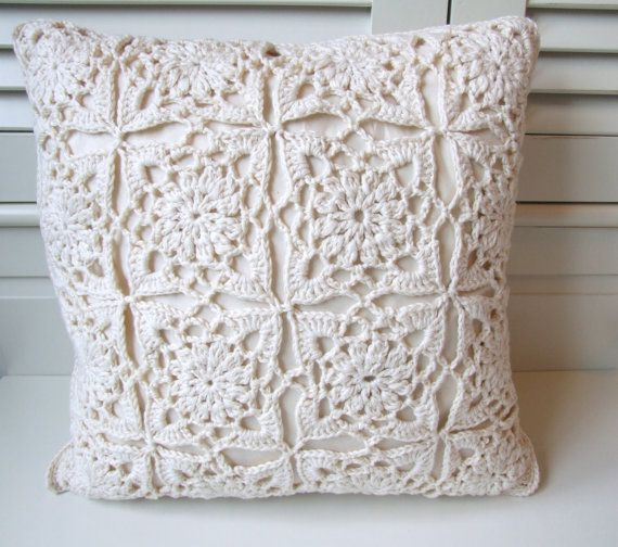 organic cotton crochet cushion cover by BabanCat on Etsy, £35.00 ...