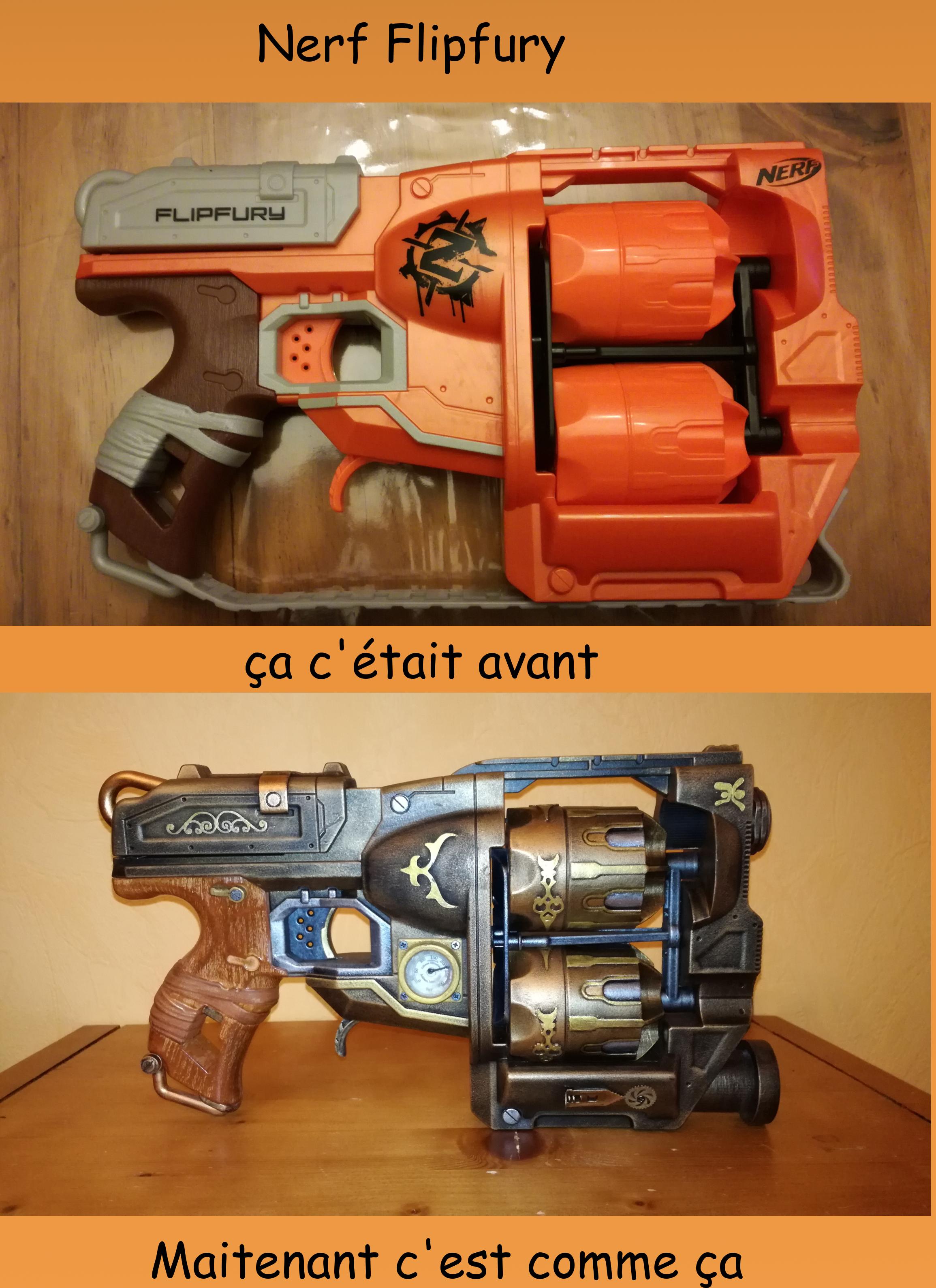Image is loading 2013-NERF-Zombie-Strike-Flip-Fury-Dart-Blaster-