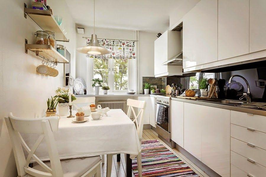 W Skandynawskim Stylu Z Dodatkami Vintage Kuchnie Pinterest