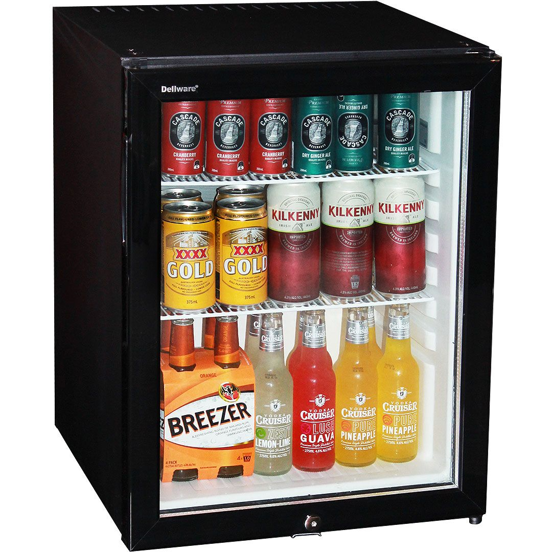 Silent 60 Litre Motel Mini Bar Fridge With Triple Glass Door And
