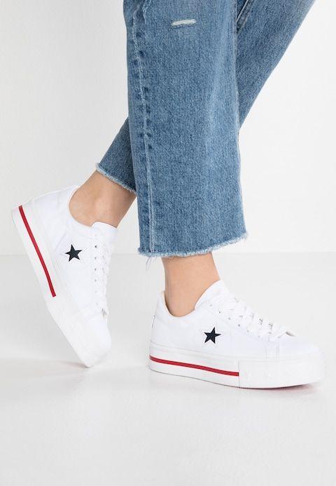 ONE STAR PLATFORM - Sneakers laag - white @ Zalando.nl ...