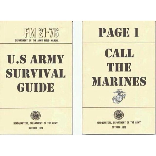 army survival guide call the marines haha i can so see my rh pinterest com army survival manual download pdf army survival manual fm 3-05.70 pdf